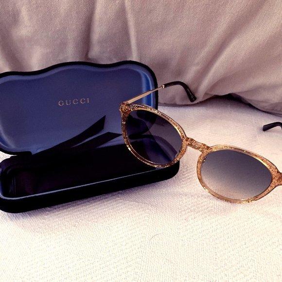 Authentic Gold Gucci Sunglasses